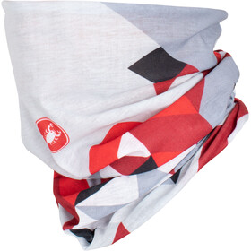 Castelli Prisma 2 Head Thingy Multifunktions Nackenwärmer white/red
